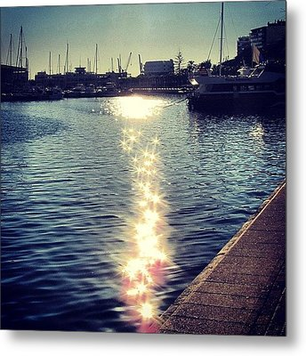 #mgmarts #spain #alicante #sea #seaside Metal Print by Marianna Mills