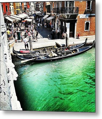 #mgmarts #venice #italy #europe #canal Metal Print by Marianna Mills