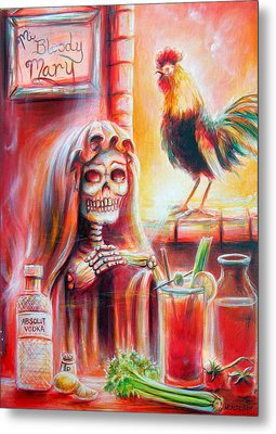 Mi Bloody Mary Metal Print by Heather Calderon