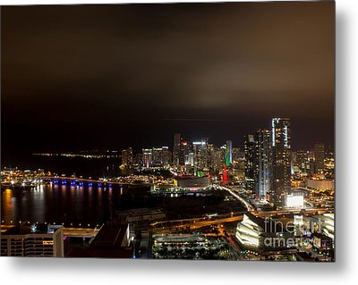 Miami After Dark Metal Print by Rene Triay Photography