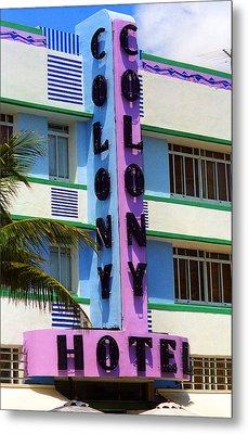 Miami Beach - Art Deco 2 Metal Print by Frank Romeo