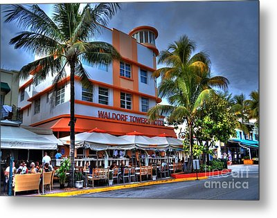 Miami Beach Art Deco 2 Metal Print by Timothy Lowry