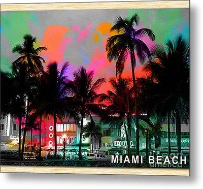 Miami Beach Metal Print by Marvin Blaine