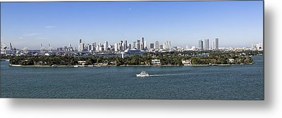 Metal Print featuring the photograph Miami Daytime Panorama by Gary Dean Mercer Clark