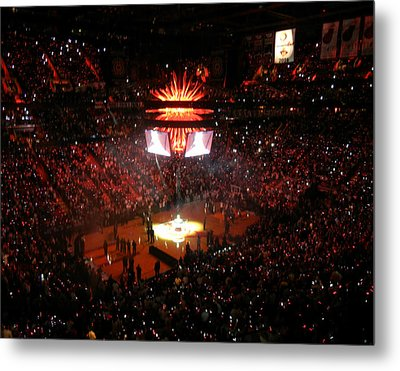 Metal Print featuring the photograph Miami Heat  by J Anthony