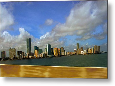 Metal Print featuring the photograph Miami by J Anthony
