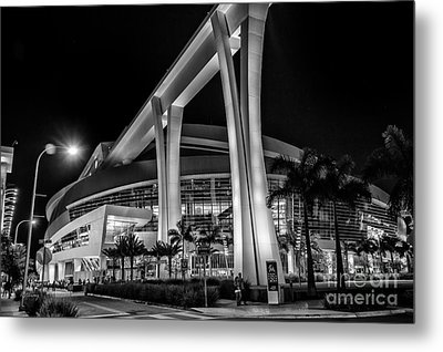 Miami Marlins Park Stadium Metal Print