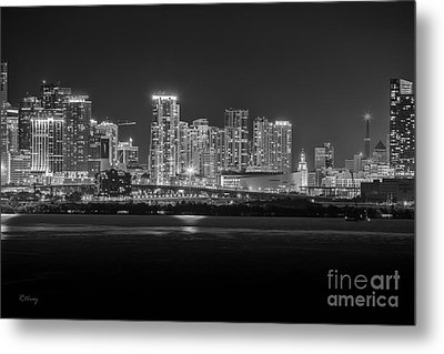 Miami On A Clear Summer Night Metal Print