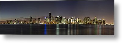 Miami Skyline Metal Print by Andres Leon