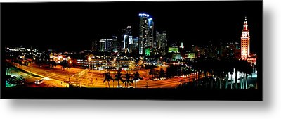Metal Print featuring the photograph Miami Skyline by J Anthony
