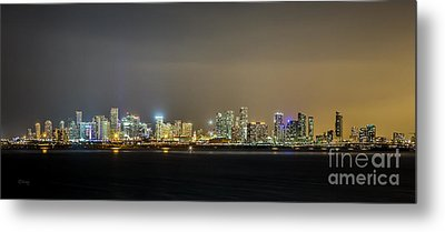 Miami Skyline View II Metal Print