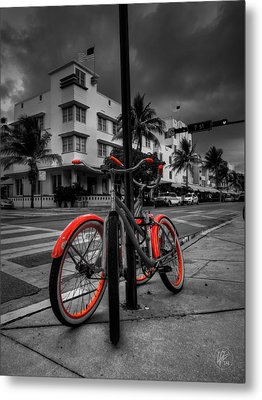 Miami - South Beach Bikes 001 Metal Print