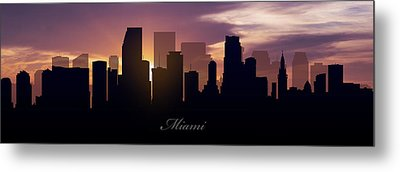 Miami Sunset Metal Print by Aged Pixel