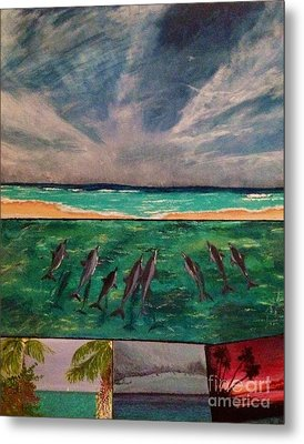 Metal Print featuring the painting Delfin by Vanessa Palomino
