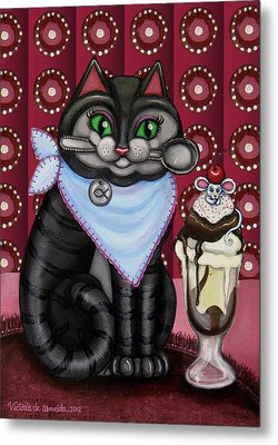 Mice Cream Metal Print by Victoria De Almeida