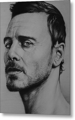 Michael Fassbender Metal Print by Steve Hunter