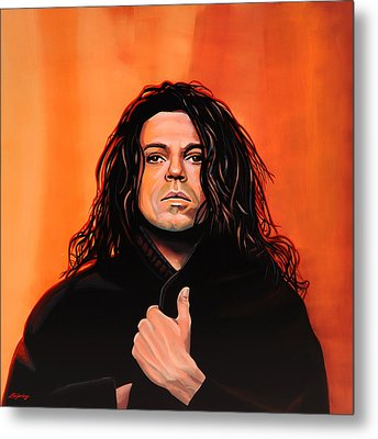 Michael Hutchence Painting Metal Print by Paul Meijering