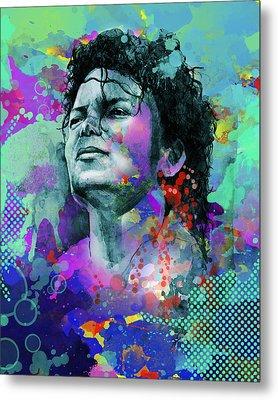 Michael Jackson 12 Metal Print