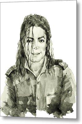 Michael Jackson 4 Metal Print by Bekim Art