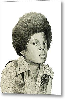 Michael Jackson 5 Metal Print by Bekim Art