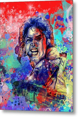 Michael Jackson 8 Metal Print