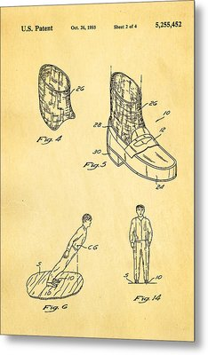 Michael Jackson Anti Gravity Boot 2 Patent Art 1993 Metal Print by Ian Monk