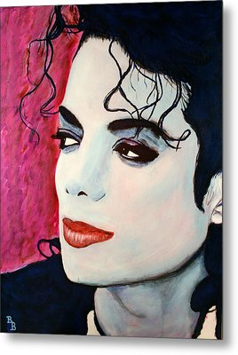 Metal Print featuring the painting Michael Jackson Art - Full Color by Bob Baker