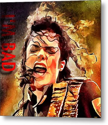 Michael Jackson I'm Bad Metal Print