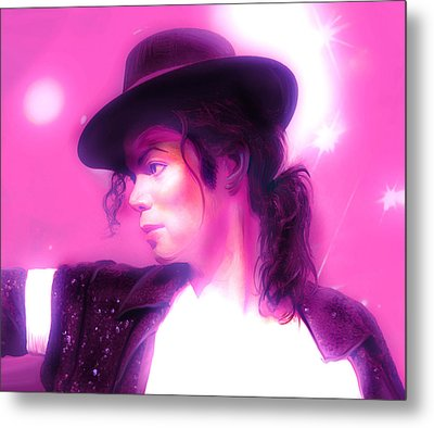Michael Jackson King Of Pop Metal Print