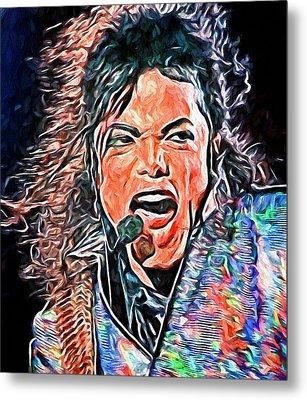 Michael Jackson Live 2 Metal Print