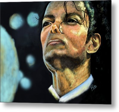 Michael Jackson Metal Print by Maria Schaefers