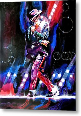 Michael Jackson Moves Metal Print