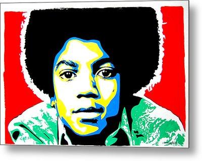 Michael Jackson Metal Print by Nancy Mergybrower