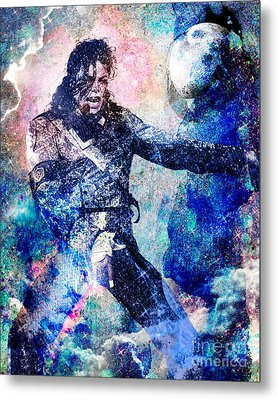 Michael Jackson Original Painting  Metal Print by Ryan Rock Artist