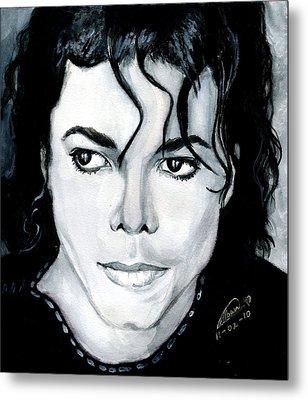 Michael Jackson Portrait Metal Print by Alban Dizdari