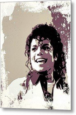 Michael Jackson Portrait Art Metal Print