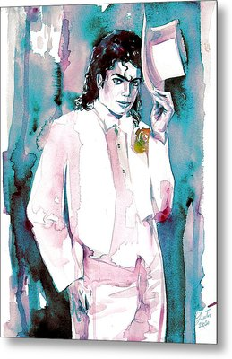 Michael Jackson - Portrait.17 Metal Print by Fabrizio Cassetta