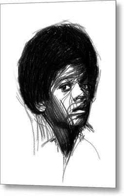Michael Jackson- The Early Years Metal Print by Steve K