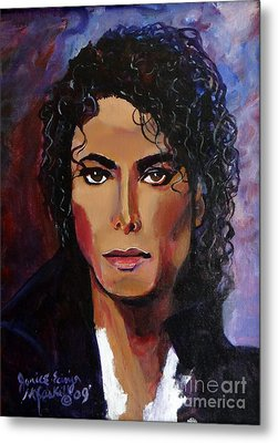 Metal Print featuring the painting Michael Jackson Timeless Memory by Ecinja Art Works