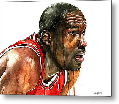 Michael Jordan Early Days Metal Print