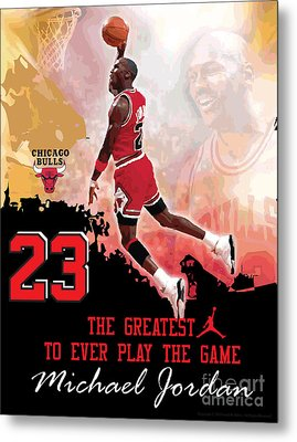 Michael Jordan Greatest Ever Metal Print by Israel Torres