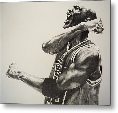 Michael Jordan Metal Print by Jake Stapleton