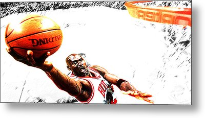 Michael Jordan Lift Off Metal Print by Brian Reaves