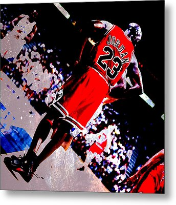 Michael Jordan Standing Tall Metal Print by Brian Reaves