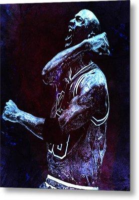 Michael Jordan We Did It Again Metal Print