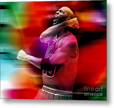 Michael Jordon Metal Print by Marvin Blaine