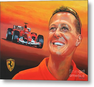 Michael Schumacher 2 Metal Print by Paul Meijering