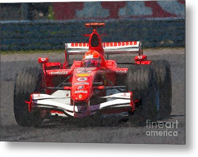 Michael Schumacher Canadian Grand Prix I Metal Print by Clarence Holmes