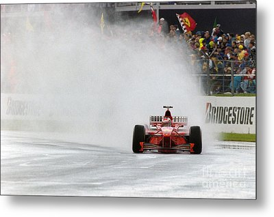Michael Schumacher Rainmaster Metal Print by Gary Doak