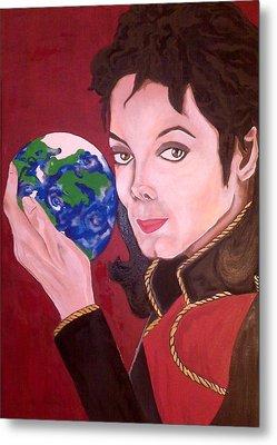 Michael's World Metal Print